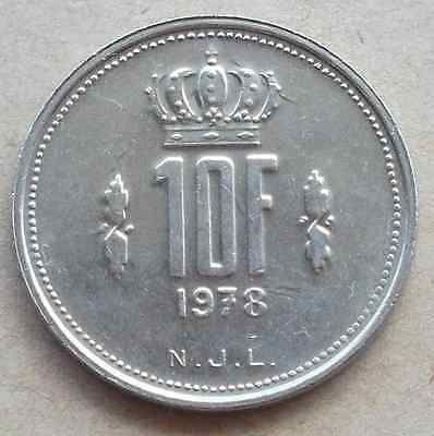 LUXEMBOURG 10 Francs coin * 1978 (6HB33)