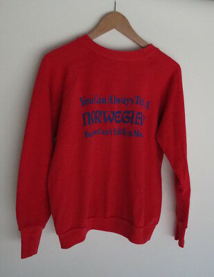 Vintage 80s Healthknit Can Tell Norwegian But Can't Tell Him Much sweatshirt M