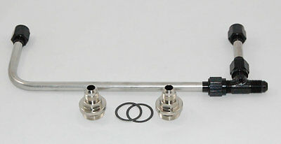 Aed Holley Carburetor Polished Stainless Fuel Line Kit 650 750 Double Pump Black