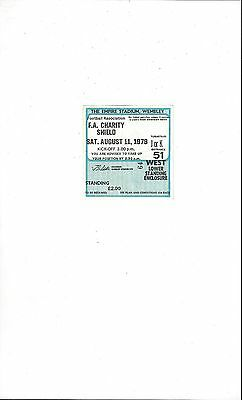 Arsenal v Liverpool Charity Shield Match Ticket Stub 1979 - Standing