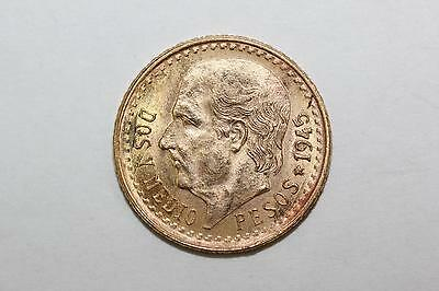 1945 Dos Y Medio ( 2 1/2 ) Pesos Mexican Gold Coin