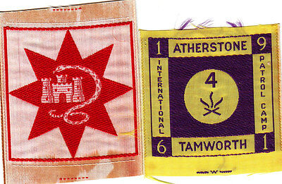 Boy Scout Badges ATHERSTONE and TAMWORTH + 1961 PATROL CAMP