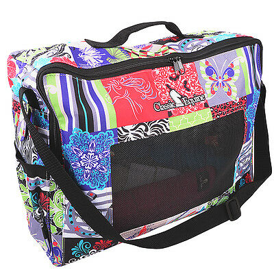 Classic Equine Horse Boot Accessories Tote Bag W/ Adjustable Strap Patchwork