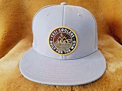 Yeti Coolers Flat Brim Snapback Outdoor Badge Hat Gray Baseball FREE SHIP NEW