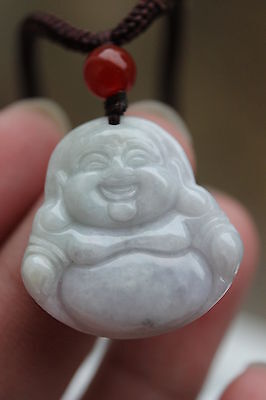 Gemstone Genuine natural light green purple jadeite jade Buddha pendant