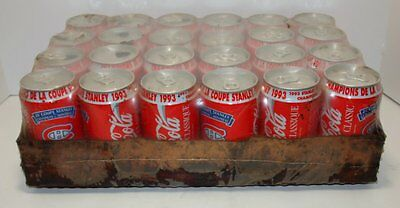 Case of 24 Coca Cola Cans Montreal Canadiens 1993 Stanley Cup Champions