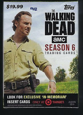 2017 Topps Walking Dead Season #6 Trading Cards Retail 61ct Value/Blaster Box