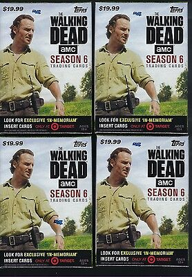 (4) 2017 Topps Walking Dead Season #6 Trading Cards Retail 61ct Blaster Box LOT
