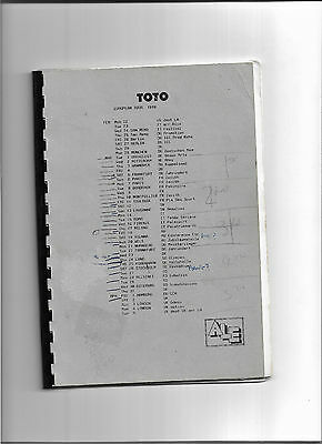 TOTO europen Tour crew itinerary Paul Cantwell truck driver