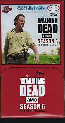 2017 Topps Walking Dead Season #6 Trading Cards Retail 36pk Gravity Feed Box