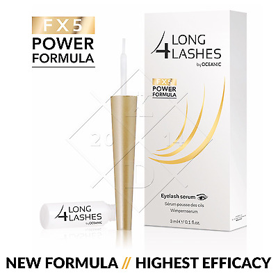NEW IMPROVED Long4Lashes FX5 POWER FORMULA 3ml Eyelash SERUM Enhancing GROWTH