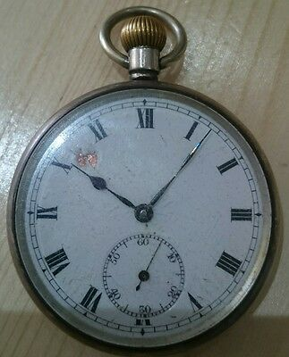 George Stockwell 1929 Sterling silver pocket watch