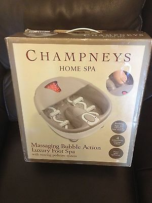 Champneys Luxury Home Foot Spa.massaging Bubble Action With Moving Pedicure Sytm
