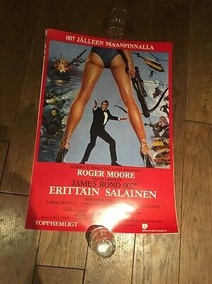 Original For Your Eyes Only James Bond Poster 007 Roger Moore