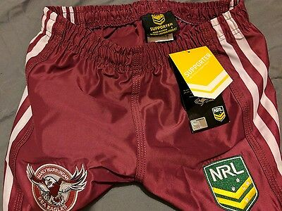 Manly sea eagles shorts 2017 small