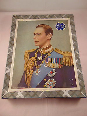 Victory 100 Piece Wood Jigsaw Portrait of King George VI