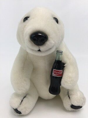 Vintage 1993 Coca Cola Soda Polar Bear Stuffed Animal Plush Toy 7""