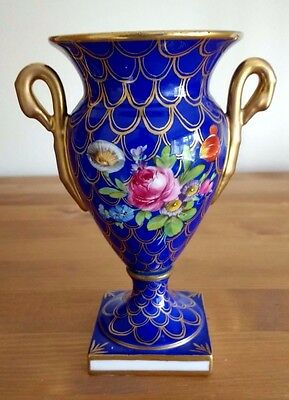 Sevres / Continental Porcelain Small / Miniature Urn / Vase on Pedestal