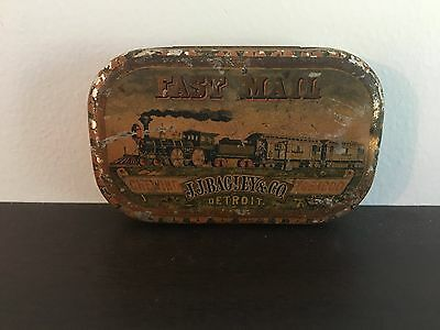 Vintage Fast Mail Chewing Tobacco pocket tin-antique-advertising