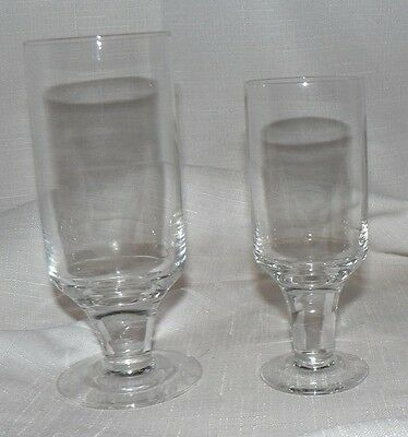 DARTINGTON Portmierion FT553 Frank Thrower 70s Wine Glasses CLEAR 100cl / 175cl