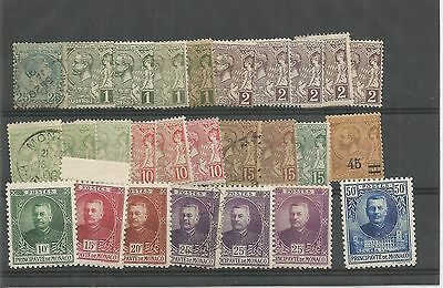 Monaco Early From 1891 Prince Albert Used And Unused Definitives   Ref 452
