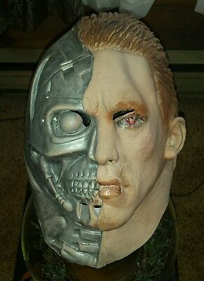 Vintage Halloween Latex TERMINATOR 2 Mask Arnold Schwarzenegger Rubber T2 Movie