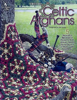 Celtic Afghans Crochet Booklet - 5 Reversible Designs - Annie's Attic Rare & HTF