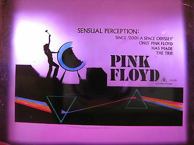 SENSUAL PERCEPTION 1972 Rare cinema movie projector glass slide Pink Floyd live