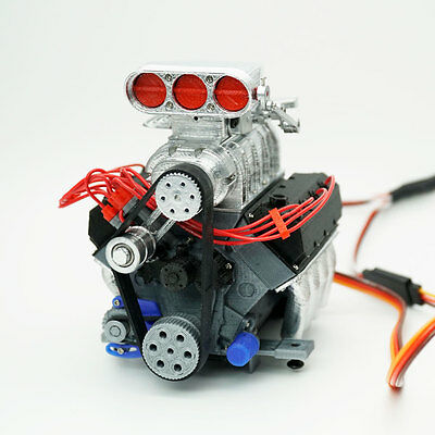 DarkDragonWing 1/10 RC OHV V8 H FD Engine Painted & Assembled