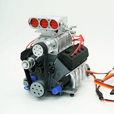 DarkDragonWing 1/10 RC OHV V8 H RD Engine Painted & Assembled