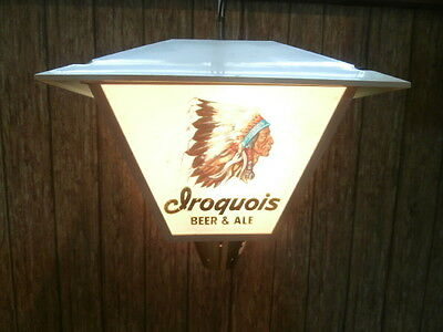 IROQUOIS BEER AND ALE lantern style bar light  VINTAGE