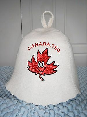 Hat for Sauna Celebrate Canada 150 Embroidered (98% Wool)