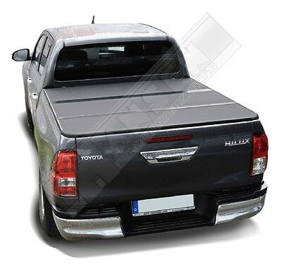 Toyota Hilux 05-14 New Style Tri Fold Hard Tonneau Cover 4x4 Non Drill