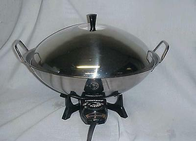 Farberware Electric Wok Model 303 Stainless Steel 1000 Watts Excellent Condition
