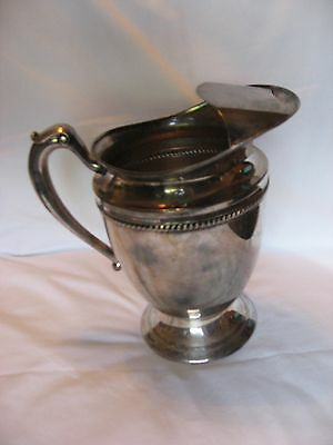 """Forbes Silver Company Plated Water Pitcher 9"""" Tall"""