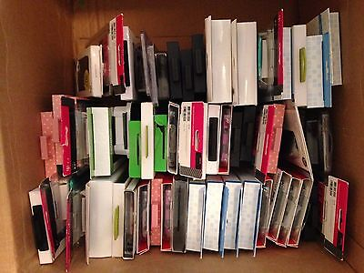Bulk BRANDED Wholesale lot of 55 Various Mixed Cell Phone Cases. LOOK!!