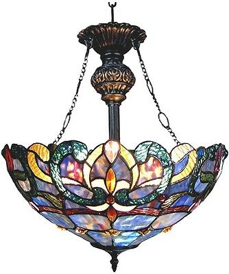 Tiffany Style Ceiling Light Inverted Pendant Victorian Design Dining Entryway