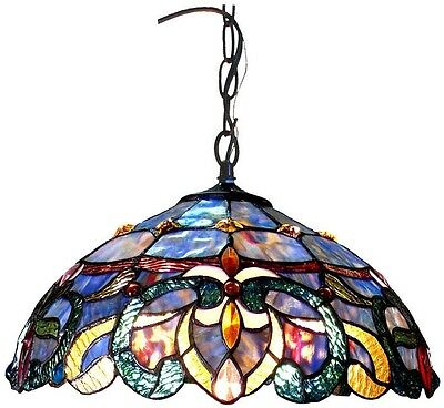 Tiffany Style Ceiling Light Pendant Victorian Design Dining Entryway Mission