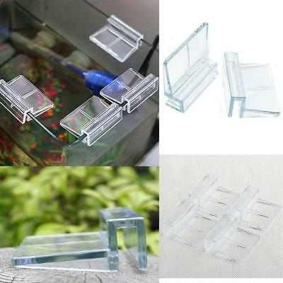 Arcylic Aquarium Glass Cover Clip Support Holder Thermo Brackets Fish Tank - LD
