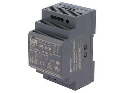 HDR-60-24 Pwr sup.unit switched-mode 60W 24VDC 21.6÷29VDC 2.5A 190g MEANWELL