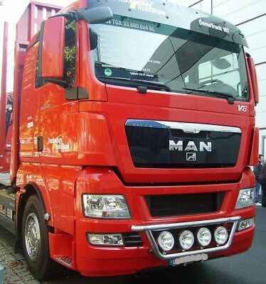 LKW Scheinwerferbügel unten MAN TGX (07-) Lampenbügel light roof bar Frontbügel