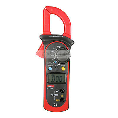 Manual Range LCD Digital Clamp Multimeter DC AC Volt Diode Tester Uni-T UT202A