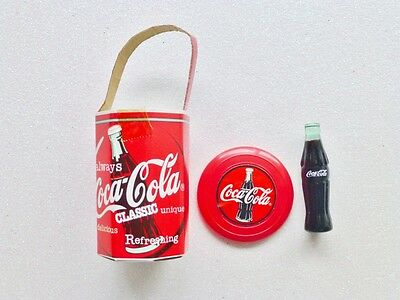 Barbie Coca Cola 3pc Accessory set from 1997 Picnic Frisbee Cooler & Bottle