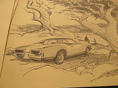 Buick Riviera Portfolio of Frameable Drawings from 1978: 1949-1963-1971