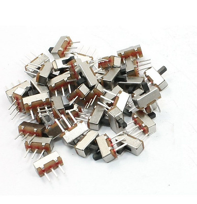 50 Pcs 2 Position SPDT 1P2T 3 Pin PCB Panel Vertical Slide Switch TI