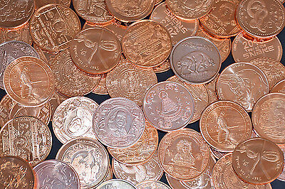 Lot of 5 (Five) AVDP Ounce .999 Fine Copper Rounds  + 2 BONUS 1/4 Ounce Coins!