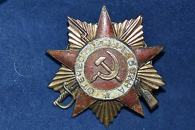 Soviet Russian Patriotic War Order Award 1 Class Golden Back Plate 12.83 G