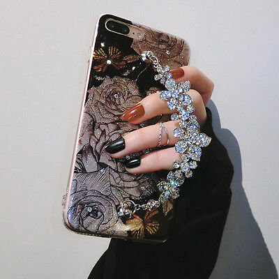 Luxury Bling Glitter Diamond Bracelets Case Cover For iPhone XS Max XR 7 Plus 6S