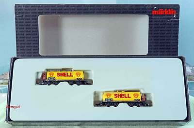 Z Scale Z Gauge Märklin Mini-Club 82070 DRG Shell Tank Car Set of 2 tank cars NB