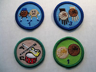 Girl Guides Canada  4 Merit Badges Music Cookies Scouts Brownies Guiding